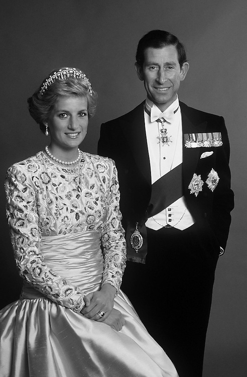 The Prince and Princess of Wales photographed at kensington Palace, London. Photograph by Jayne Fincher