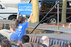 Scene at the Bernie Sanders Rally New Haven CT on 24 April 2016