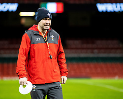 Stephen Jones Attack Coach of Wales<br /> <br /> Photographer Simon King/Replay Images<br /> <br /> Six Nations Round 1 - Wales v Italy -  Captains Run - Friday 31st January 2020 - Principality Stadium - Cardiff<br /> <br /> World Copyright © Replay Images . All rights reserved. info@replayimages.co.uk - http://replayimages.co.uk