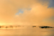 Morning fog on the Saint John River at sunrise<br /> <br /> New Brunswick<br /> Canada