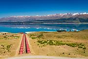 Tekapo Canal intake at Lake Pukaki, Ben Ohau, Canterbury, South Island, New Zealand