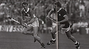 Offaly's Joe Dooley races away from Galway's Olly Kilkenny in the 1985 All-Ireland Final.