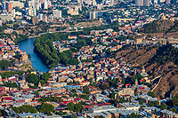 Tbilisi , Georgia - August 26, 2019 : cityscape skyline of Tbilisi Georgia capital city eastern Europe