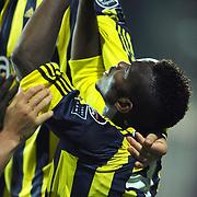 Fenerbahce's Joseph Michael YOBO celebrate his goal during their Turkish soccer super league match Sivasspor between Fenerbahce at 4 Eylul Stadium in Sivas Turkey on  Sunday, 22 May 2011. Photo by TURKPIX