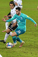 Football - 2020 / 2021 Sky Bet Championship - Swansea City vs AFC Bournemouth - Liberty Stadium<br /> <br /> Lewis Cook of Bournemouth on the attack<br />  in a stadium without fans because of the pandemic crisis<br /> <br /> COLORSPORT/WINSTON BYNORTH