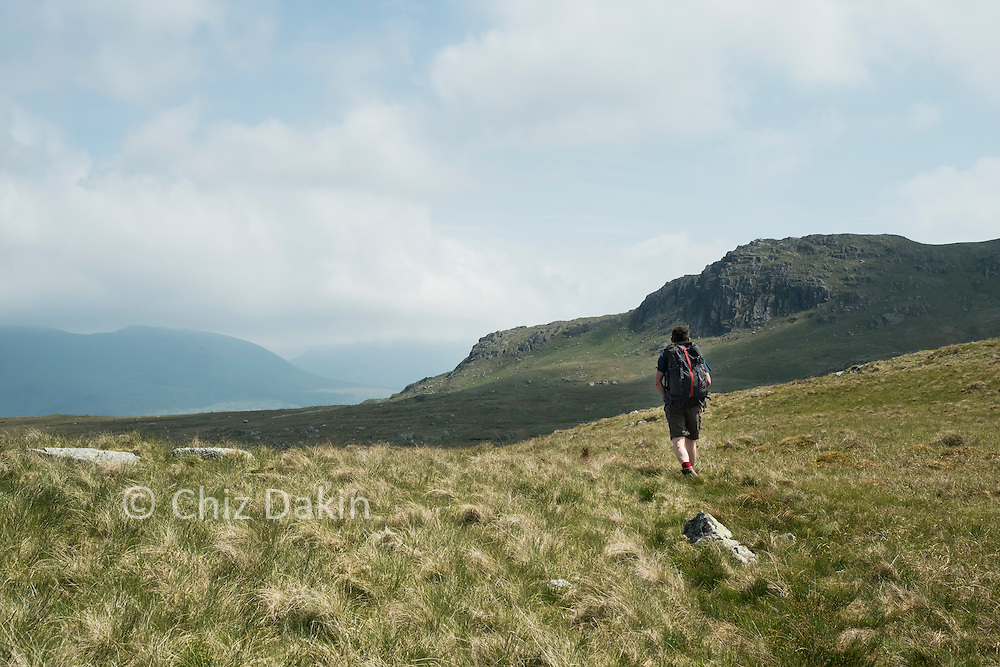 The way on from Blea Tarn towards Low Saddle