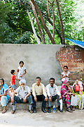 People queueing outside of the District Magistrates and Sub-Divisional Magistrate (SDM), New Delhi, India