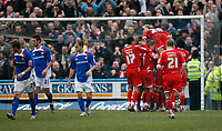 Forest celebrate Junior Agogo's penalty