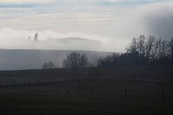 CZECH REPUBLIC VYSOCINA NEDVEZI 6JAN18 - Foggy landscape near the village of  Nedvezi, Vysocina, Czech Republic.<br /> <br /> jre/Photo by Jiri Rezac<br /> <br /> © Jiri Rezac 2018