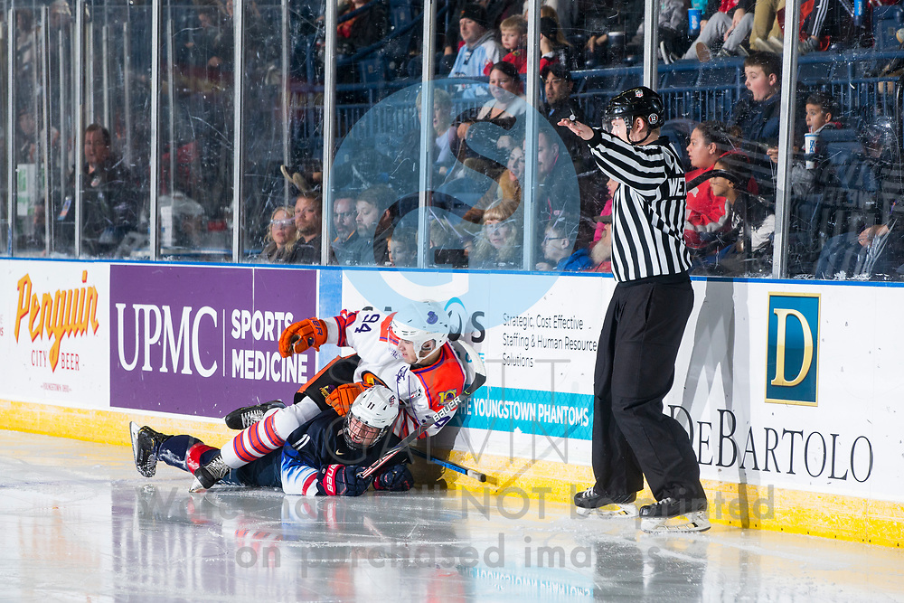 The Youngstown Phantoms defeat Team USA 6-3 at the Covelli Centre on November 16, 2019.<br /> <br /> Reilly Funk, forward, 94