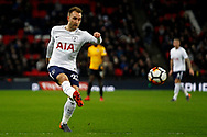 Christian Eriksen of Tottenham Hotspur in action. The Emirates FA Cup, 4th round replay match, Tottenham Hotspur v Newport County at Wembley Stadium in London on Wednesday 7th February 2018.<br /> pic by Steffan Bowen, Andrew Orchard sports photography.