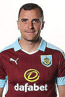 BURNLEY, ENGLAND - JULY 20:  Dean Marney of Burnley poses during the Premier League portrait session on July 20, 2016 in Burnley, England. (Photo by Barrington Coombs/Getty Images for Premier League)