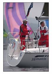 Bell Lawrie Series Tarbert Loch Fyne - Yachting.The second day's inshore races...Hamish McKay steering onboard 3830C Salamander XVIII in Class two...