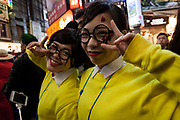 Japanese young people in costume crowd Shibuya's streets during the Halloween celebrations in Shibuya, Tokyo, Japan. Wednesday October 31st 2018 .  Halloween has grown massively popular  in Japan over the last few yers. Primarily an event for young adults who use it as a chance to dress up in inventive costumes and spend the night partying . In recent years the misbehaviour of some revellers has caused a heavier police presence on the street and  a push back from the Japanese society, and media  who see no need for nor benefits to this western cultural import.