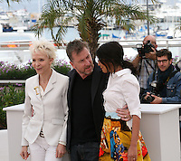 Tonie Marshall, Tim Roth, Leila Bekhti, The Jury Un Certain Regard at the 65th Cannes Film Festival. Photocall on Saturday 19th May 2012 in Cannes Film Festival, France.