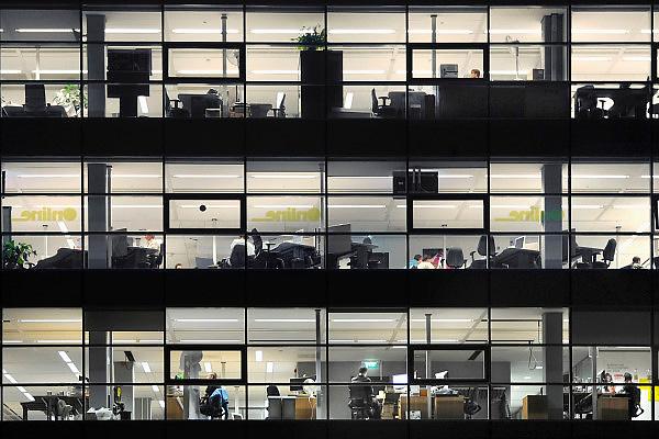 Nederland, Nijmegen, 22-2-2010Drie verdiepingen van een kantoorgebouw met veel glas.In het gebouw zijn it bedrijven gevestigd die samenwerken met de Radboud Universiteit.Foto: Flip Franssen/Hollandse Hoogte