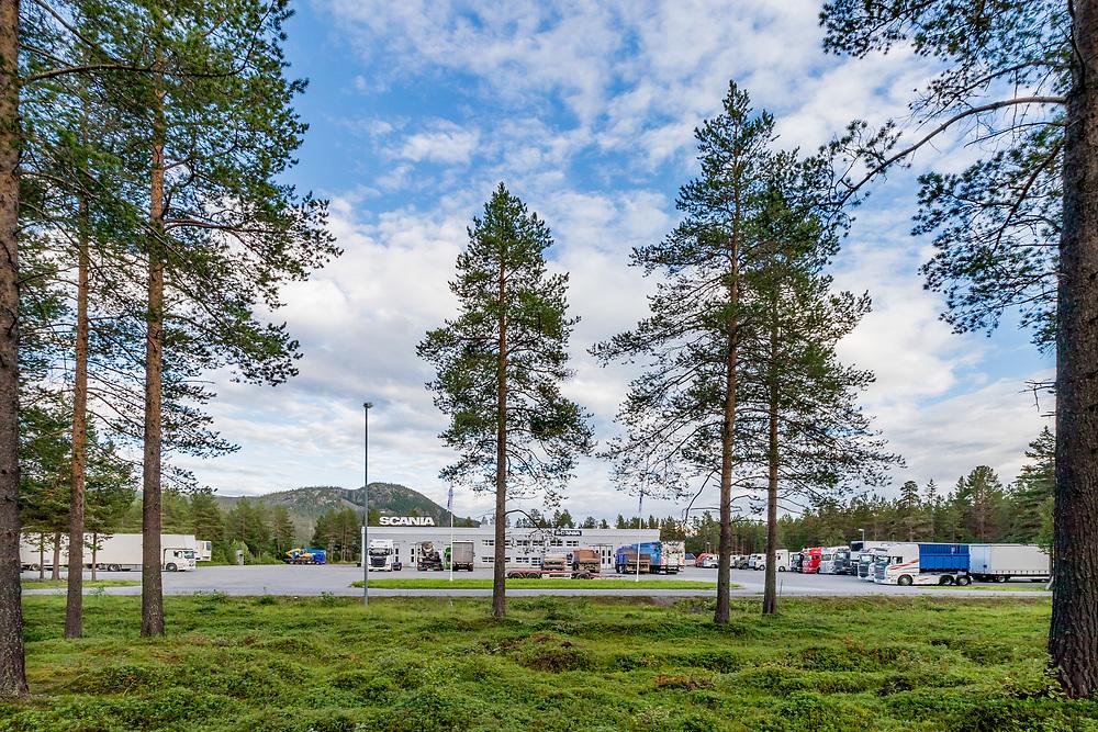 Scania-bygget på Setermoen. Norsk Scania leverer lastebiler, busser og industri-marinemotorer. BEGRENSET TIL REDAKSJONELL BRUK.