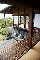 """Kairaku-en Garden, literally  """"A park to be enjoyed together"""" is a Japanese garden located in Mito, Japan. Along with Kenroku-en and Koraku-en, Kairaku-en is considered one of the Three Great Gardens of Japan. Built in the year 1841 by lord Tokugawa Nariaki,  and though worth a visit throughout the year, the garden is at its most attractive during the plum blossom season, which takes place in early March. More than 3000 plum trees have been planted here. Besides the plum tree forest, Kairakuen also features a bamboo grove, cedar woods and the Kobuntei, a traditional Japanese style building - its name is derived from  the word plum."""