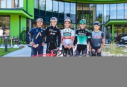 25.04.2018, Bad Häring, AUT, ÖRV Trainingslager, UCI Straßenrad WM 2018, im Bild Stefan Denifl (AUT), Michael Gogl (AUT), Gregor Mühlberger (AUT), Patrick Konrad (AUT), Mario Gamper (AUT) // during a Testdrive for the UCI Road World Championships in Bad Häring, Austria on 2018/04/25. EXPA Pictures © 2018, PhotoCredit: EXPA/ JFK