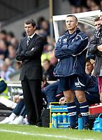 Photo: Jed Wee/Sportsbeat Images.<br /> Scunthorpe United v Sunderland. Pre Season Friendly. 21/07/2007.<br /> <br /> Scunthorpe manager Nigel Adkins (R) with Sunderland manager Roy Keane.