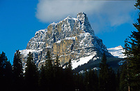 Castle Mountain from the Bow Valley parkway   Photo: Peter Llewellyn