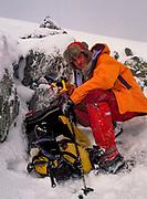 Colin Monteath, summit above Tres Bazos, Isla Gordon, Tierra del Fuego, Chile