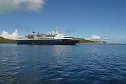 World Discoverer ship, Bora Bora, French Polynesia<br />
