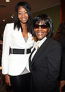 """l to r: La Rivers and Cicely Tyson at b.michael America Spring 2010 Collection """" Advanced American Style """" held at Christie's in Rockefeller Plaza on September 16, 2009 in New York City."""