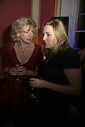 DEBORAH MOGGANCH AND SUSIE BOYT, Literary Review's Bad Sex In Fiction Prize.  In & Out Club (The Naval & Military Club), 4 St James's Square, London, SW1, 29 November 2006. <br />Ceremony honouring author who writes about sex in a 'redundant, perfunctory, unconvincing and embarrassing way'. ONE TIME USE ONLY - DO NOT ARCHIVE  © Copyright Photograph by Dafydd Jones 248 CLAPHAM PARK RD. LONDON SW90PZ.  Tel 020 7733 0108 www.dafjones.com