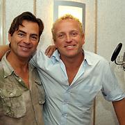Ochtend radioshow Gordon bij Radio Noordzee, mengtafel, Eddy Keur