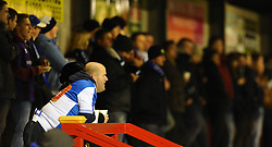 Bristol Rovers fans before their match with Crawley Town - Photo mandatory by-line: Seb Daly/JMP - Tel: Mobile: 07966 386802 08/01/2014 - SPORT - FOOTBALL - Broadfield Stadium - Crawley - Crawley Town v Bristol Rovers - FA Cup - Replay