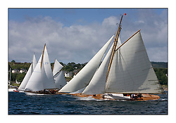 Lucky Girl and Rosemary 1925 Bermudan Sloop on the startline off Kames...Mixed and bright conditions for the fleet as they race from Kames to Largs...* The Fife Yachts are one of the world's most prestigious group of Classic .yachts and this will be the third private regatta following the success of the 98, .and 03 events.  .A pilgrimage to their birthplace of these historic yachts, the 'Stradivarius' of .sail, from Scotland's pre-eminent yacht designer and builder, William Fife III, .on the Clyde 20th -27th June.   . ..More information is available on the website: www.fiferegatta.com . .Press office contact: 01475 689100         Lynda Melvin or Paul Jeffes