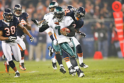 Philadelphia Eagles quarterback Michael Vick #7 carries the ball during the NFL game between the Philadelphia Eagles and the Chicago Bears on November 22nd 2009. The Eagles won 24-20 at Soldier Field in Chicago, Illinois. (Photo By Brian Garfinkel)