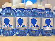 © Licensed to London News Pictures. 03/10/2011. MANCHESTER. UK. Bottled water. 'Back Boris' merchandise at calling for support for London Mayor Boris Johnson's campaign to keep office. The Conservative Party Conference at Manchester Central today, October 3, 2011. Photo credit:  Stephen Simpson/LNP