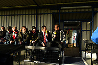 Football - 2019 / 2020 Emirates FA Cup - Second Round: Kingstonian vs. AFC Fylde<br /> <br /> Kingstonian's Manager Hayden Bird being interviewed by Football Focus' Dan Walker, at King George's Field, Tolworth.<br /> <br /> COLORSPORT/ASHLEY WESTERN