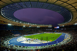 Stadium just after the raining during the 2009 IAAF Athletics World Championships on August 21, 2009 in Berlin, Germany. (Photo by Vid Ponikvar / Sportida)