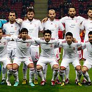Balikesirspor's team group during their Turkey Cup matchday 4 soccer match Galatasaray between Balikesirspor at the AliSamiYen Spor Kompleksi TT Arena in Istanbul Turkey on Tuesday 27 November 2012. Photo by TURKPIX