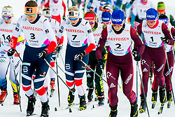 February 2, 2018 - Goms, SWITZERLAND - 180202 Lovise Heimdal of Norway competes in the women's 7,5/7,5 km skiathlon during the FIS U23 Cross-Country World Ski Championships on February 2, 2018 in Obergoms..Photo: Vegard Wivestad GrÂ¿tt / BILDBYRN / kod VG / 170095 (Credit Image: © Vegard Wivestad Gr¯Tt/Bildbyran via ZUMA Press)