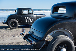 Tom Mcintyre in his 1932 Ford 3-Window Coupe at the Race of Gentlemen. Wildwood, NJ, USA. October 11, 2015.  Photography ©2015 Michael Lichter.