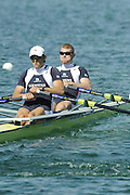 Munich, GERMANY, GBR M2X, Bow, Matt WELLS and Steve ROWBOTHAM, during the FISA World Cup at the Munich Olympic Rowing Course, Thur's.  08.05.2008  [Mandatory Credit Peter Spurrier/ Intersport Images] Rowing Course, Olympic Regatta Rowing Course, Munich, GERMANY