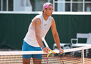 Rafael Nadal of Spain during practice ahead of the French Open 2021, a Grand Slam tennis tournament at Roland-Garros stadium on May 29, 2021 in Paris, France - Photo Jean Catuffe / ProSportsImages / DPPI