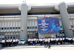 Security at Abdi Ipekci Arena - Abdi Ipekci Spor Salonu na Ulasim two days prior to the 2010 FIBA Basketball World Championship, on August 26, 2010, in Istanbul,Turkey. (Photo by Vid Ponikvar / Sportida)