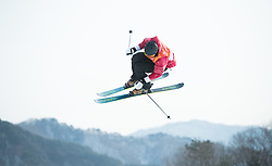 February 18, 2018 - Pyeongchang, South Korea - FERDINAND DAHL of Norway competes in the Mens Ski Slopestyle competition Sunday, February 18, 2018 at Phoenix Snow Park at the Pyeongchang Winter Olympic Games.  Photo by Mark Reis, ZUMA Press/The Gazette (Credit Image: © Mark Reis via ZUMA Wire)