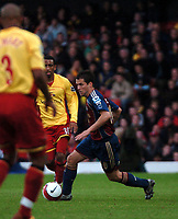 Photo: Tony Oudot.<br /> Watford v Newcastle United. The Barclays Premiership. 13/05/2007.<br /> Michael Owen of Newcastle on the ball