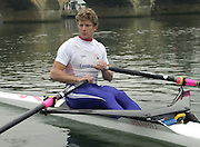 Henley. England, GB Rowing crews training on Henley Reach.<br /> Photo Peter Spurrier.<br /> 11/03/2004 - British International Rowing -<br /> GBR W1X Ian Lawson.   [Mandatory Credit. Peter SPURRIER/Intersport Images]