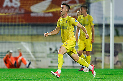 Arnel Jakupovic of Domzale reacts after scoring first goal during football match between NK Domzale and NK Koper in 34th Round of Prva liga Telekom Slovenije 2020/21, on May 16, 2021 in Sports park Domzale, Domzale, Slovenia. Photo by Vid Ponikvar / Sportida