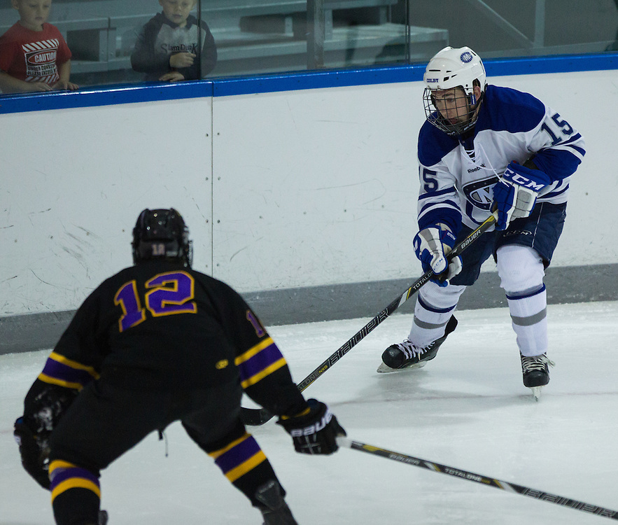 Jack Bartlett of Colby College during an NCAA Division III college hockey game against Williams College at Alfond Rink at Alfond Arena, Saturday Nov. 17, 2012 in Waterville, ME. (Dustin Satloff/Colby College Athletics)