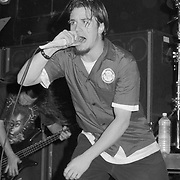 BETHLEHEM - OCTOBER 6: Mike Patton of Faith No More performs at Airport Music Hall on October 6, 1992 in Bethlehem, Pennsylvania. ©Lisa Lake