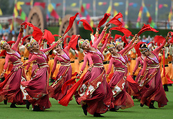 August 8, 2017  Hohhot, China Dancers perform during the celebration marking the 70th anniversary of the Inner Mongolia Autonomous Region in Hohhot, north China's Inner Mongolia Autonomous Region. (Credit Image: © Ren Junchuan/Xinhua via ZUMA Wire)