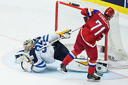 Ilya Kovalchuk of Russia vs Pekka Rinne of Finland  during penalty shots at Ice Hockey match between Finland and Russia at Day 12 in Group B of 2015 IIHF World Championship, on May 12, 2015 in CEZ Arena, Ostrava, Czech Republic. Photo by Vid Ponikvar / Sportida